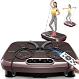 WEIZI Vibration plate power board vibration trainer fitness vibration machine oscillating platform full body shaking for trainers exercise workout home gym