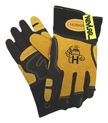Hobart 770710 Ultimate-Fit Leather Welding Gloves, Large