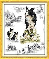 クロス ステッチ DIY 手作り刺繍キット 正確な図柄印刷クロスステッチ 家庭刺繍装飾品 羊飼い 40x50cm