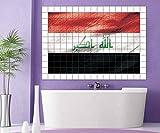 Fliesenaufkleber 15 10 20 cm Irak Iraq Flagge Fahne Fliesenbild Fliesen Kachel Fliesenbilder Aufkleber Bad Küche 8A428, Bildformat:120cmx80cm;Fliesengröße:Fliese 15x10cm