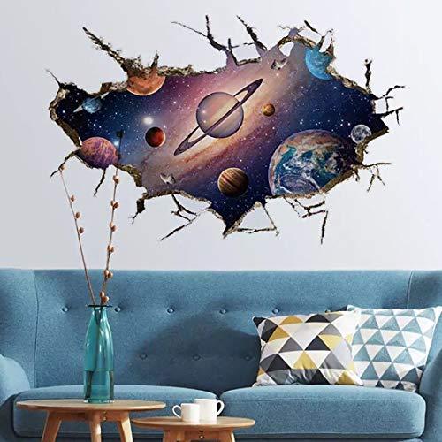 WandSticker4U®- 3D Wandtattoo PLANETEN I Wandbild: 60x90 cm I Wandsticker Kinder Weltall Weltraum Universum Sonnensystem Galaxy Poster I Wand Deko für Kinderzimmer Junge