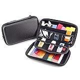 Hard Shell Diabetic Supplies Travel Case Organizer Bag for Blood Glucose Monitoring Systems, Sugar Test Strips, Medication, Insulin, Pens, Syringes, Needles, Lancets, Nikon & Sony Camera (Black)