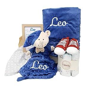 MabyBox My Jeans   Canastilla Bebé Personalizada   Cesta Regalo Recién Nacido   Set Bebe Recién Nacido Personalizado… (Bebé Niño)