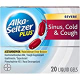 Alka-Seltzer Plus Severe Sinus, Cold & Cough Liquid Gels 20ct