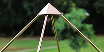 Handmade Foldable 6ft Copper Giza Pyramid for Meditation and Healing