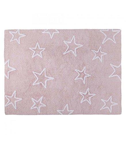 Happy Decor Kids hdk-221 Tapis lavable Stars, roso-bianco, 120 x 160 cm