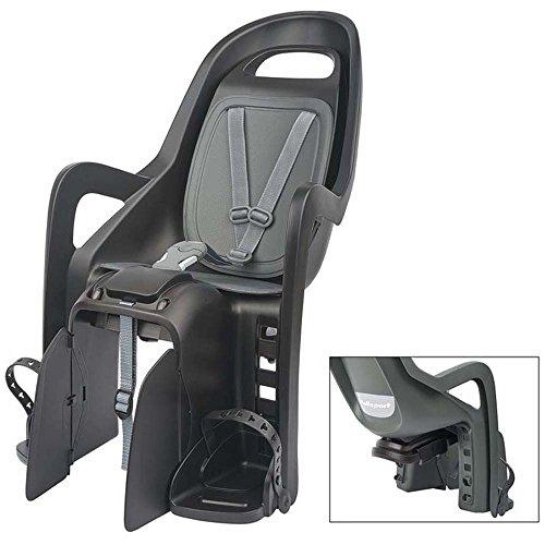 Polisport Unisex– Erwachsene Kindersitz-2123501600 Kindersitz, schwarz/grau, L