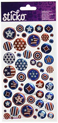 Unbekannt Sticko Aufkleber Patriotische Sterne