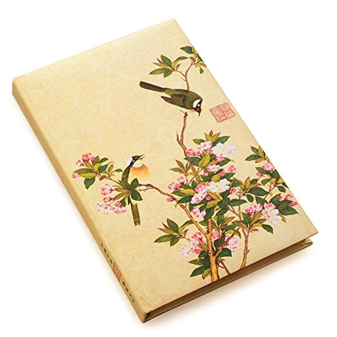 【Deli】 ノート 美しい花 枝にとまる ツバメ 布表紙 A5サイズ [並行輸入品]