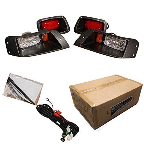 EZGO TXT Golf Cart ALL LED Light Kit, Adjustable Headlight Kit for 1996-2013
