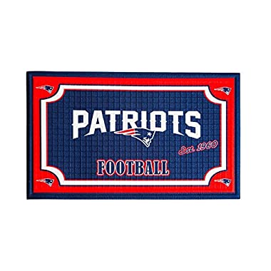 Team Sports America 41EM3818B New England Patriots Embossed Door Mat