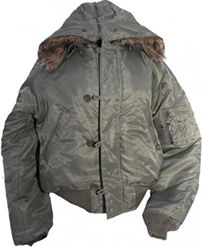 MySkateBrand N2B Parka Jacke Olive - Flying Jacket - Fliegerjacke, Grösse:S