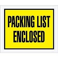 Aviditi PL401 Full Face Envelope Packing List Enclosed 4-1/2 Length x 5-1/2 Width Yellow (Case of 1000) [並行輸入品]