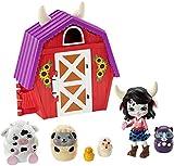Enchantimals Granja de Cambrie Cow Casa de juguete con muñeca y mascota matrioska sorpresa (Mattel GTM48)