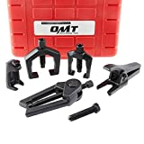 Orion Motor Tech 5-in-1 Ball Joint Separator, Pitman Arm Puller, Tie Rod End Tool Set for Front End Service, Splitter Removal Kit (RB06)