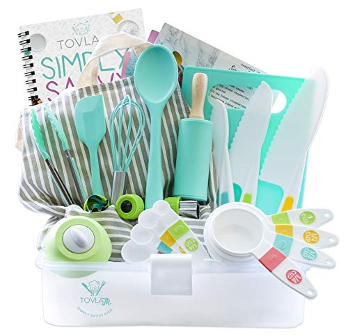 Tovla Jr. Kids Cooking and Baking Gift Set with Storage Case