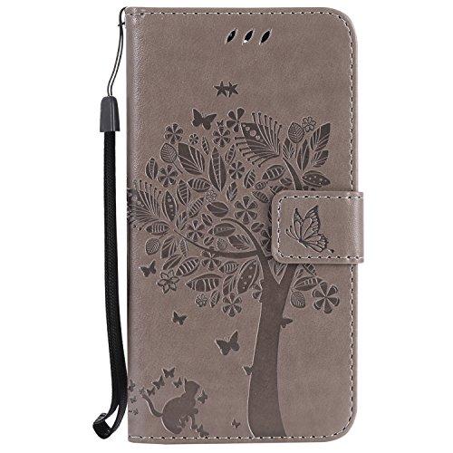 Nancen Compatible with Handyhülle Huawei Honor 6C Flip Schutzhülle Zubehör Lederhülle mit Silikon Back Cover PU Leder Handytasche im Bookstyle Stand Funktion