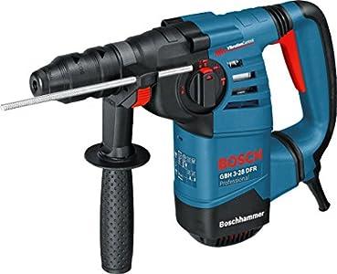 Bosch Professional GBH 3-28 DFR - Martillo perforador (3,1 J, máx. hormigón 28 mm, portabrocas SDS plus + cilíndrico, en maletín)