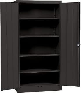 Sandusky Lee Black Steel SnapIt Storage Cabinet, 4 Adjustable Shelves, 72