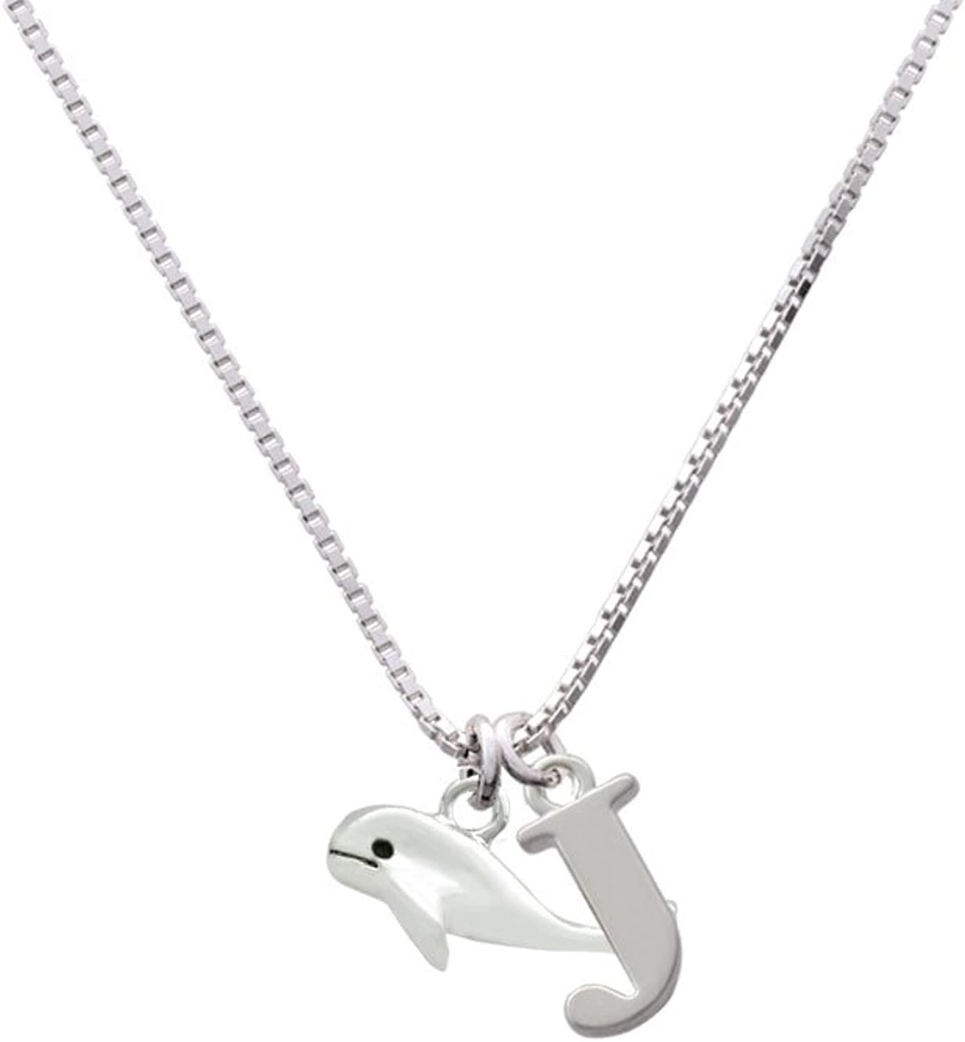 Delight Jewelry Whale Capital Initial Necklace