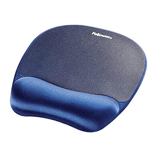 Fellowes 9172801 Tappetino Mouse con poggiapolsi in Memory Foam, zaffiro