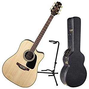 This the Takamine GD51CE Acoustic Guitar in Natural Finish with guitar stand and hard case