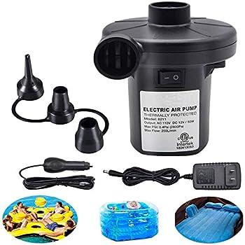 Swimming Ring-Black Air Mattress Beds jnneyuu Portable Air Pump,Perfect Inflator//Deflator Quick-Fill Pumps for Outdoor Camping Boats