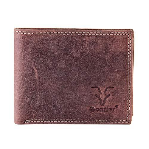 Goatter Mens Hunter cuero RFID bloqueo cartera (marrón)
