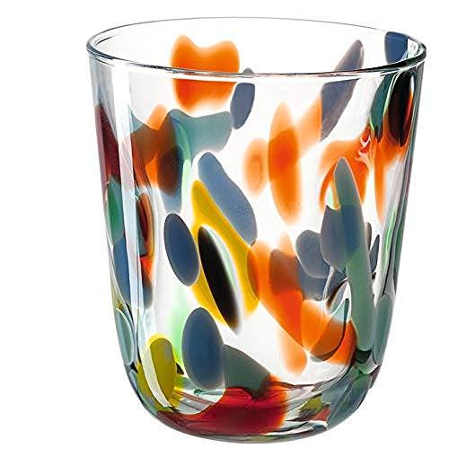 Leonardo Portofino Trink-Gläser, handgefertigte Wasser-Gläser, Trink-Becher aus Glas mit Muster, 4er Set, 330 ml, 020846