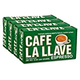 Café La Llave Espresso, 100% Pure Coffee, Dark Roast Ground Coffee (4 x 10 Ounce Bricks)