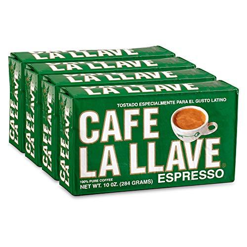 Café La Llave Espresso Coffee, Dark Roast (4 x 10 oz Bricks)