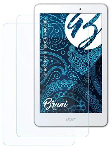 Bruni Schutzfolie kompatibel mit Acer Iconia Tab 8 A1-840FHD Folie, glasklare Bildschirmschutzfolie (2X)