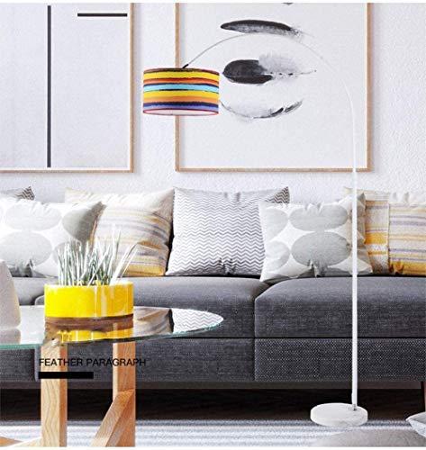 Henseek Jahreszeitentisch Angellampe Stehlampe, LED-kreative minimalistische Wohnzimmer Studie Schlafzimmer Nachtaugenschutz Vertikal-Schwarz Schnur-Lichter