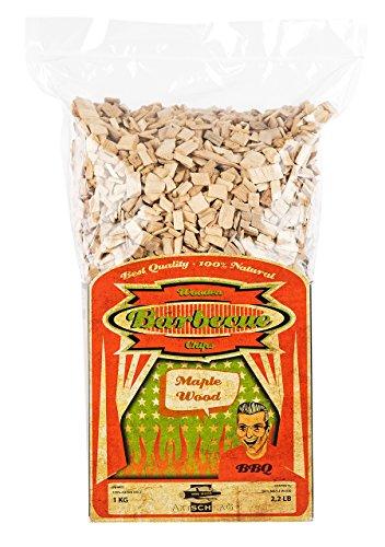 Axtschlag Räucherchips Ahorn, 1000 Gramm sortenreine Räucherspäne für besondere Rauch- und Geschmackserlebnisse, für alle Grills
