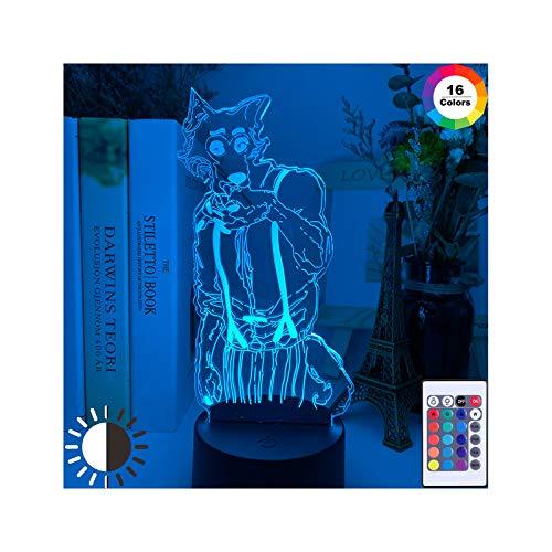 HOKVJ Lámpara De Ilusión 3D Acrílica, Luz Nocturna, Figura Legosi para Decoración...