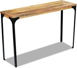 Console Table Festnight Wall Side Table Sideboard Living Room Kitchen Display Table Mango Wood 120x35x76 cm Home Furniture