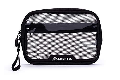 Aldertis - Neceser de Viaje Transparente para avión de Mujer y Hombre, Impermeable, de PVC para organizar Accesorios de Viaje y artículos de Aseo. Estuche o Bolso Transparente.