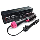 Multifunctional hair dryer and hair curler rotating brush hair dryer roller rotating styling brush comb straightener hair curling comb