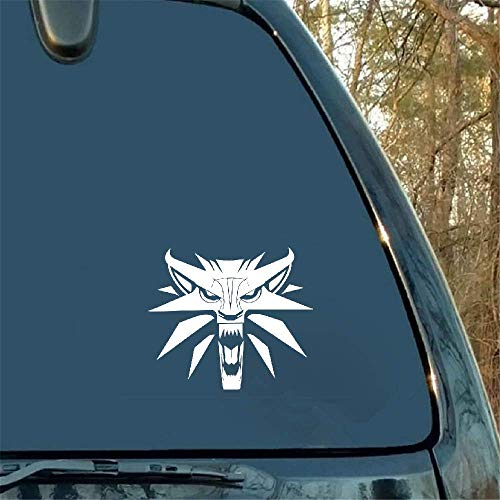 Car Decal Car Sticker Car Sticker The Witcher Wolf Medallion Decal Personality Car Styling for Car Laptop Window Sticker
