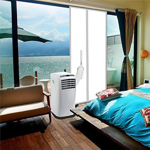 ANK-SNL Türabdeckung Türabdichtung für mobile Klimageräte, Klimaanlagen, Wäschetrockner und Ablufttrockner | Klimaanlage Auslass | Hot Air Stop zum Anbringen an Balkontüren, 210 X 90 cm