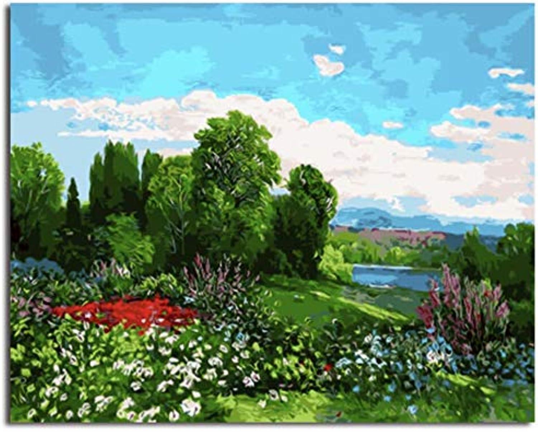 Superlucky Landschaftsbilder Malen nach Zahlen Malen und Kalligraphie DIY Malen nach Zahlen auf Leinwand Mit Rahmen 40x50cm B07J24FRJN | Neu