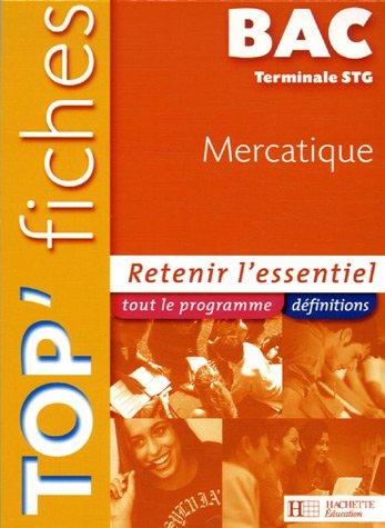Top'Fiches BAC Mercatique Terminale STG