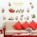 2 pz / New Christmas Throwing Accogliente camera for bambini Adesivi murali Adesivi murali Camera da letto Sfondo Finestra Sfondo VE Adesivi murali FAI DA TE (Colore: A, Dimensione: 45 * 60 cm) peng
