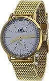 Adee Kaye #AK9044-MGMB Men's Retro Vintage Gold Tone Mesh Band Automatic Watch