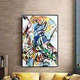 Lienzo de pinturas famosas del famoso pintor Wassily Kandinsky Impresiones y carteles de arte abstracto moderno Decoración para el hogar 70x100cm Sin marco