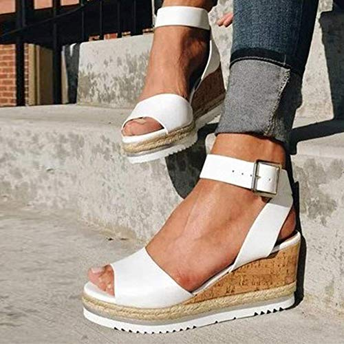 KRILY 2020 Sandalias de Plataforma para Mujer Moda de Verano TacóN de...