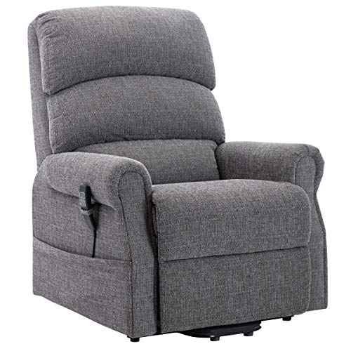 The Clayton Dual Motor Electric Rise and Recliner Mobility Chair with USB Charging Port in handset - Choice of Colours (Grey)