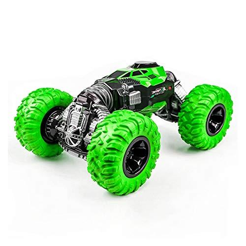 YYQIANG Rotación de 360 ° grande doble cara truco camión 2.4G Deformación inalámbrica Control remoto coche luz Off-road escalada Ruck modelo es un cumpleaños para niños pasatiempos