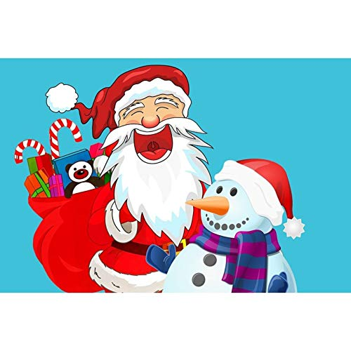 Diamond Painting 5D DIY Kits for Adults, Kids, Beginners. Home Office Decortaion. Gift Presents for Him Her Santa Claus and Snowman 15.7x11.8 in by Megei