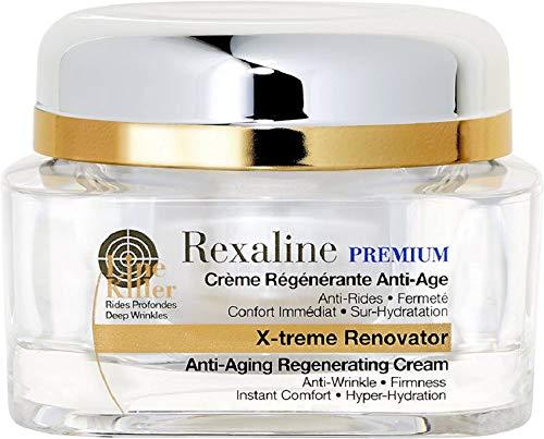Rexaline - X-treme Renovator - Crema regeneradora antiedad - Crema antiarrugas con ácido hialurónico - Hidratante, nutritiva, calmante - Tratamiento facial de juventud - Cruelty free - 50ml